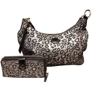 Coach Leopard Hobo with matching wallet